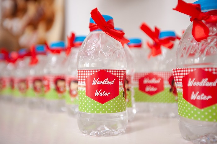 Woodland Water from a Little Red Riding Hood Birthday Party on Kara's Party Ideas | KarasPartyIdeas.com (7)