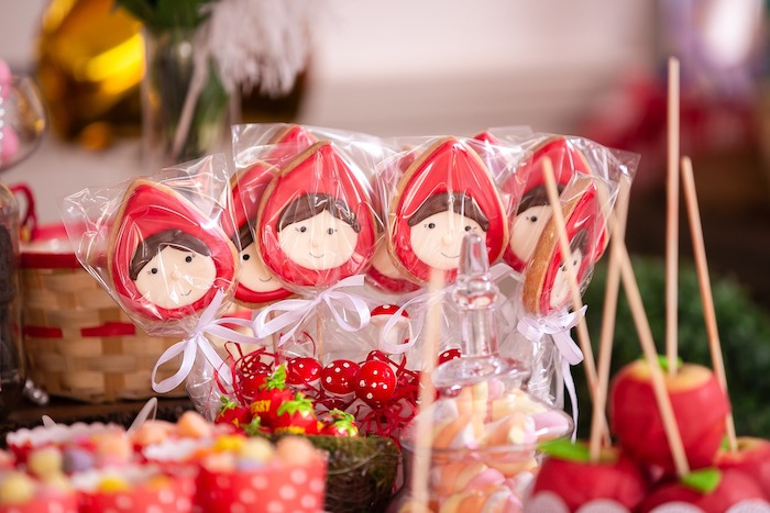 Little Red Riding Hood Cookie Pops from a Little Red Riding Hood Birthday Party on Kara's Party Ideas | KarasPartyIdeas.com (16)