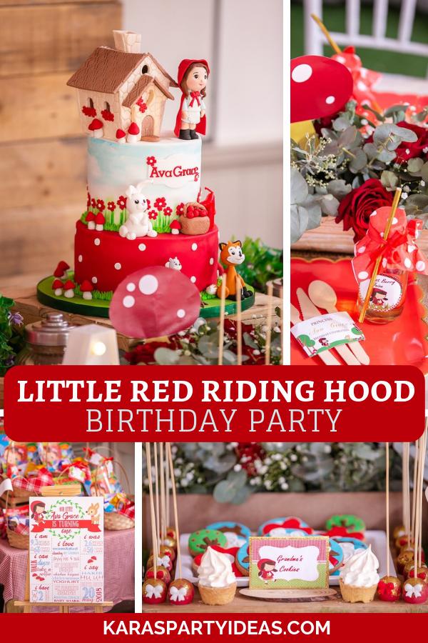 Little Red Riding Hood Birthday Party via Kara's Party Ideas - KarasPartyIdeas.com