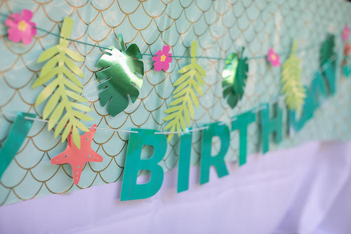 Under the Sea Birthday Banner from a Mermaid Birthday Party on Kara's Party Ideas | KarasPartyIdeas.com (10)