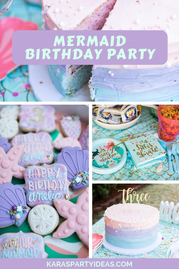 Mermaid Birthday Party via Kara's Party Ideas - KarasPartyIdeas.com