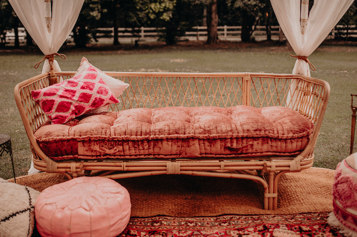 Cane Day Bed with Rattan Accents from a Moroccan Genie Birthday Party on Kara's Party Ideas | KarasPartyIdeas.com (14)