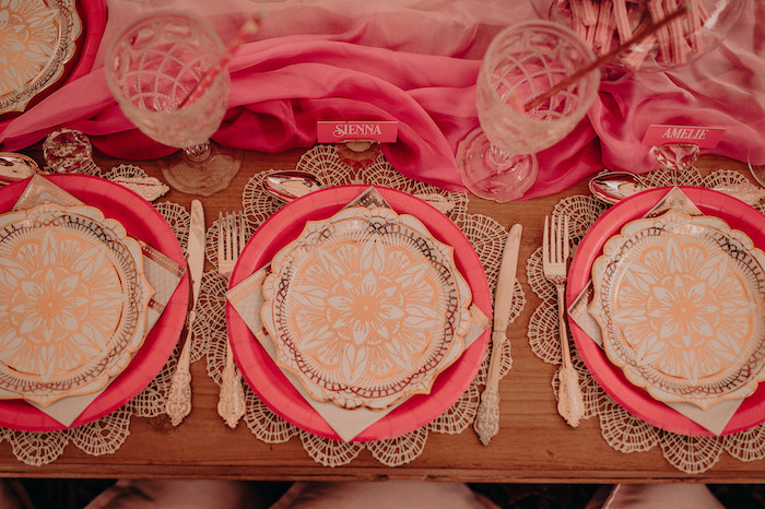 Table Settings from a Moroccan Genie Birthday Party on Kara's Party Ideas | KarasPartyIdeas.com (13)