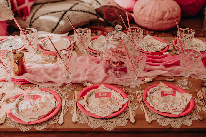 Moroccan-inspired Guest Table from a Moroccan Genie Birthday Party on Kara's Party Ideas | KarasPartyIdeas.com (31)