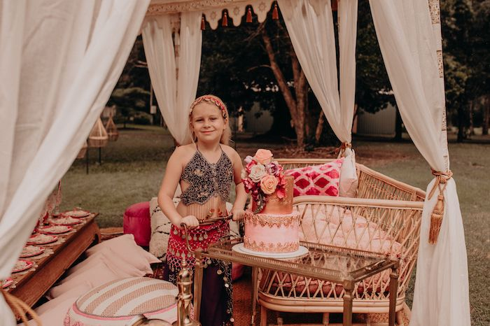Cake Cart from a Moroccan Genie Birthday Party on Kara's Party Ideas | KarasPartyIdeas.com (9)