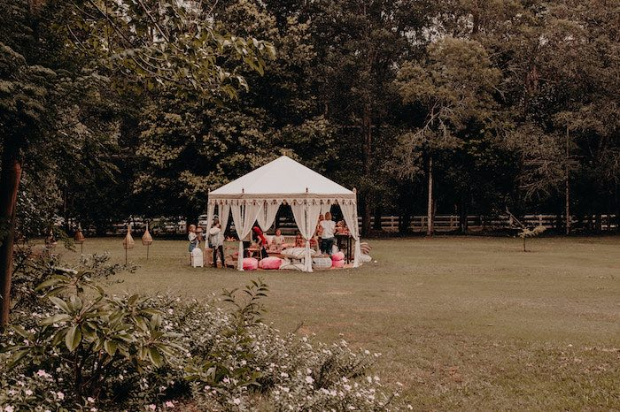 Tent Party Spread from a Moroccan Genie Birthday Party on Kara's Party Ideas | KarasPartyIdeas.com (5)