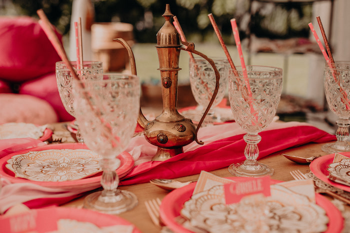 Moroccan Genie Lamp Centerpiece from a Moroccan Genie Birthday Party on Kara's Party Ideas | KarasPartyIdeas.com (30)
