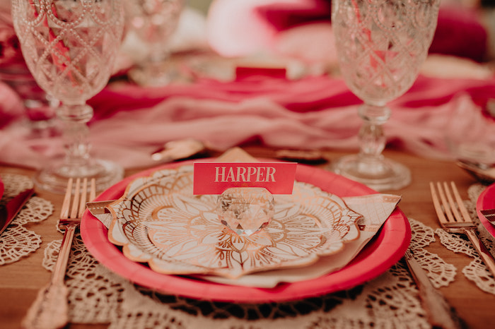 Table Setting from a Moroccan Genie Birthday Party on Kara's Party Ideas | KarasPartyIdeas.com (29)