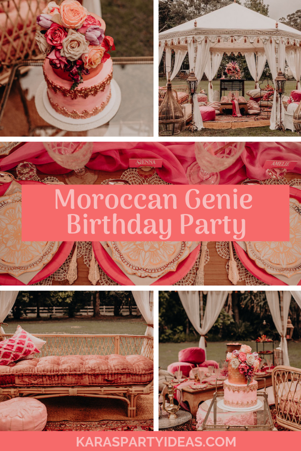 Moroccan Genie Birthday Party via Kara's Party Ideas - KarasPartyIdeas.com
