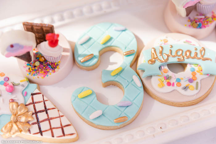Ice Cream Themed Sugar Cookies from a Pastel Ice Cream Shop Birthday Party on Kara's Party Ideas | KarasPartyIdeas.com (27)