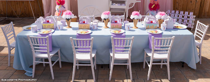 Ice Cream Themed Guest Table from a Pastel Ice Cream Shop Birthday Party on Kara's Party Ideas | KarasPartyIdeas.com (42)