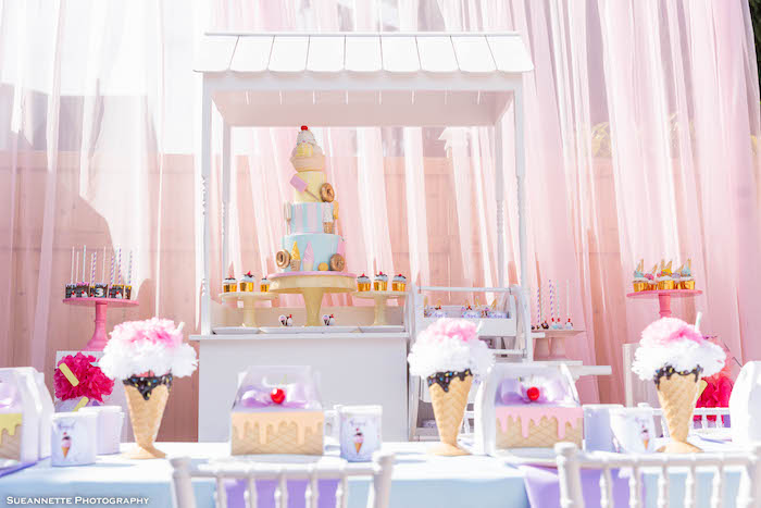Pastel Ice Cream Shop Birthday Party on Kara's Party Ideas | KarasPartyIdeas.com (17)