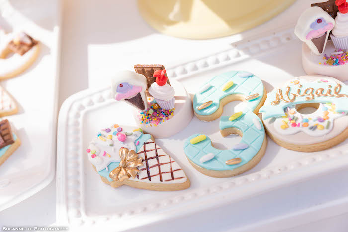 Ice Cream Themed Sugar Cookies from a Pastel Ice Cream Shop Birthday Party on Kara's Party Ideas | KarasPartyIdeas.com (15)