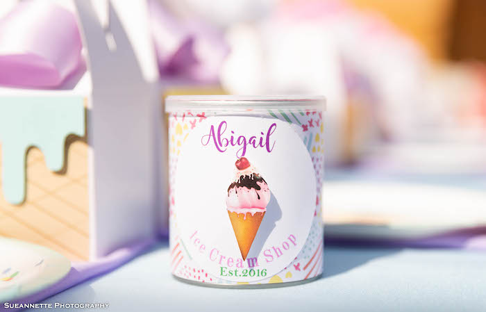 Ice Cream Shop Favor Can from a Pastel Ice Cream Shop Birthday Party on Kara's Party Ideas | KarasPartyIdeas.com (41)