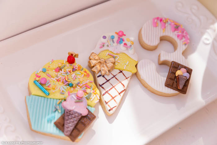 Ice Cream Themed Sugar Cookies from a Pastel Ice Cream Shop Birthday Party on Kara's Party Ideas | KarasPartyIdeas.com (13)