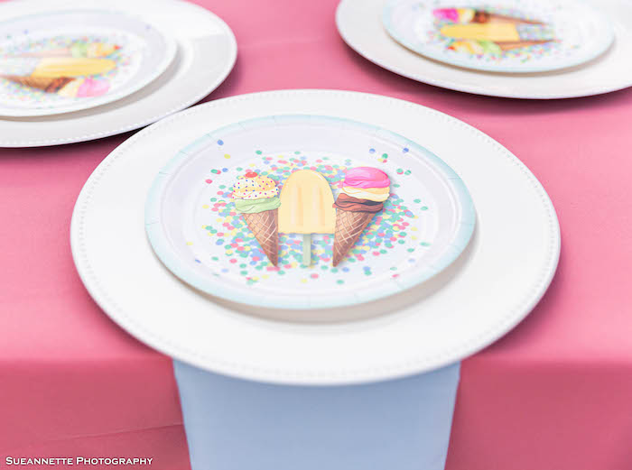 Ice Cream-inspired Table Setting from a Pastel Ice Cream Shop Birthday Party on Kara's Party Ideas | KarasPartyIdeas.com (38)