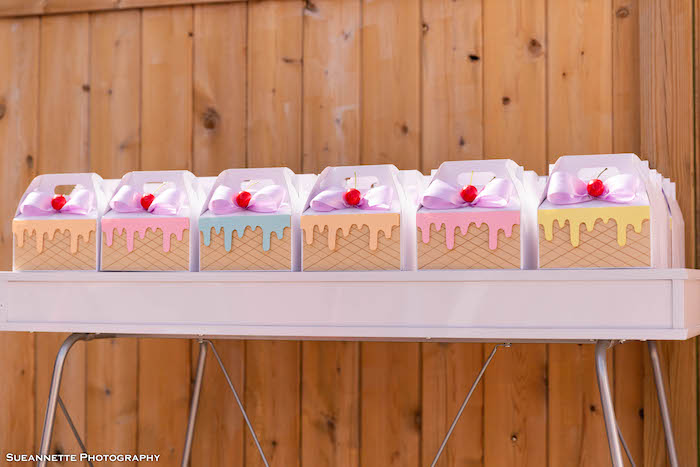 Ice Cream Sundae Gable Favor Boxes from a Pastel Ice Cream Shop Birthday Party on Kara's Party Ideas | KarasPartyIdeas.com (35)