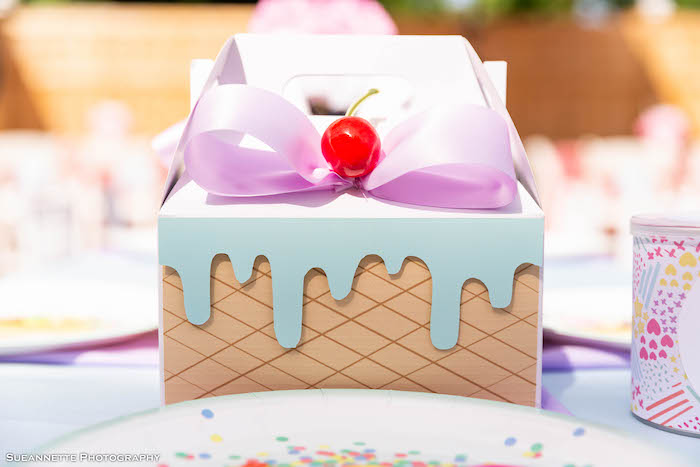 Ice Cream Sundae Gable Box from a Pastel Ice Cream Shop Birthday Party on Kara's Party Ideas | KarasPartyIdeas.com (34)