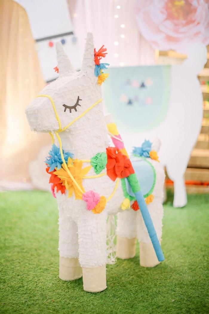 Llama Pinata from a Pastel Llama Birthday Fiesta on Kara's Party Ideas | KarasPartyIdeas.com (17)