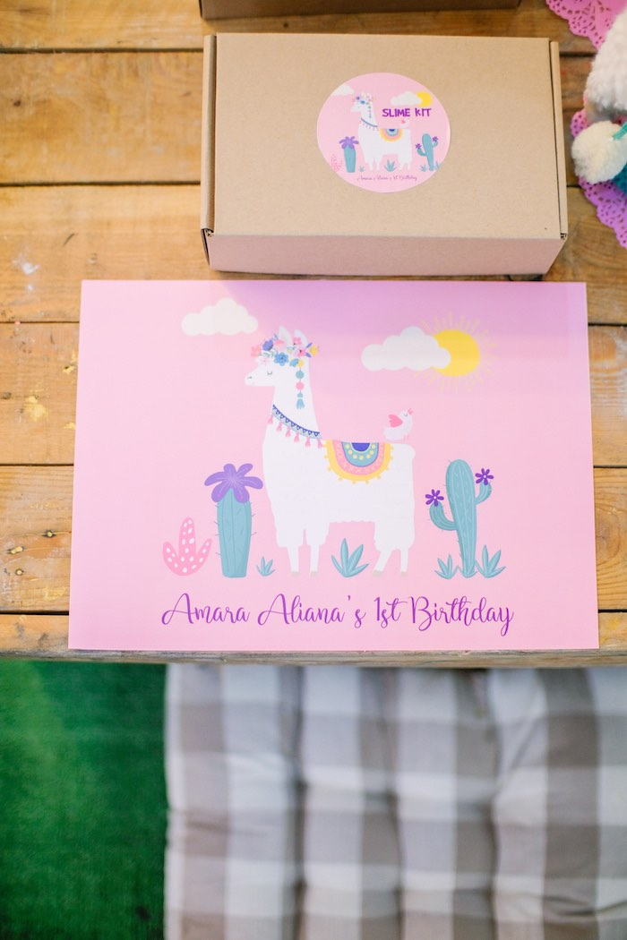 Llama Themed Placemat + Table Setting from a Pastel Llama Birthday Fiesta on Kara's Party Ideas | KarasPartyIdeas.com (16)