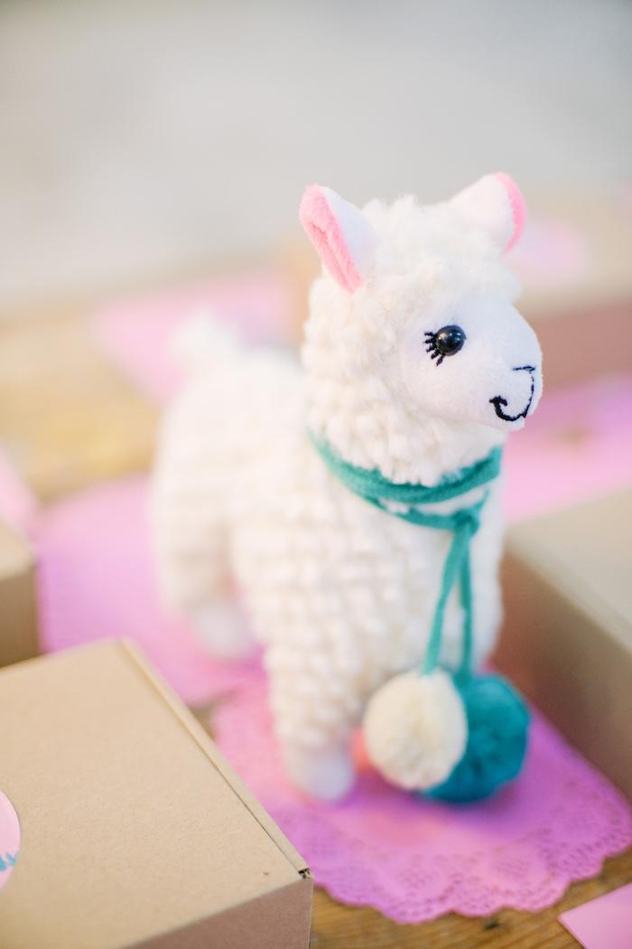 Plush Llama Table Centerpiece from a Pastel Llama Birthday Fiesta on Kara's Party Ideas | KarasPartyIdeas.com (15)