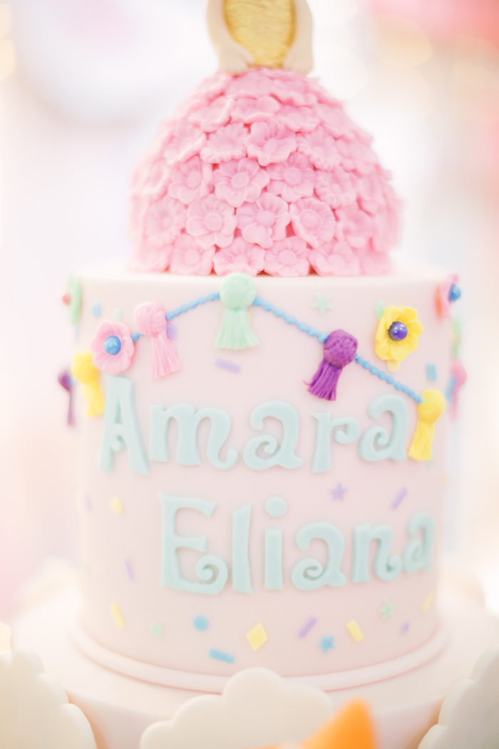 Fiesta Cake Detail from a Pastel Llama Birthday Fiesta on Kara's Party Ideas | KarasPartyIdeas.com (13)