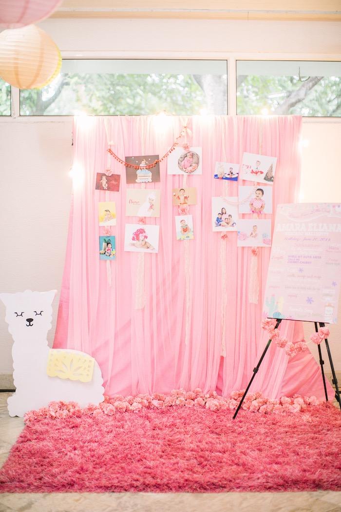 Llama Themed Highlight + Photo Board from a Pastel Llama Birthday Fiesta on Kara's Party Ideas | KarasPartyIdeas.com (10)
