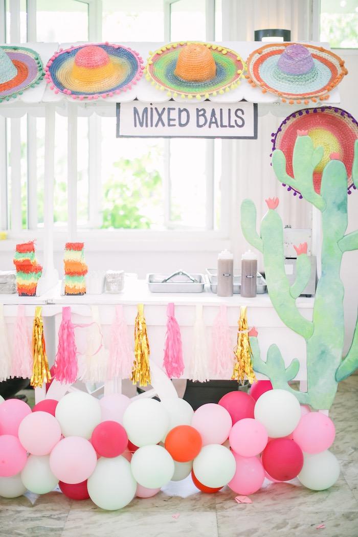 Fiesta Themed Food Stand from a Pastel Llama Birthday Fiesta on Kara's Party Ideas | KarasPartyIdeas.com (28)