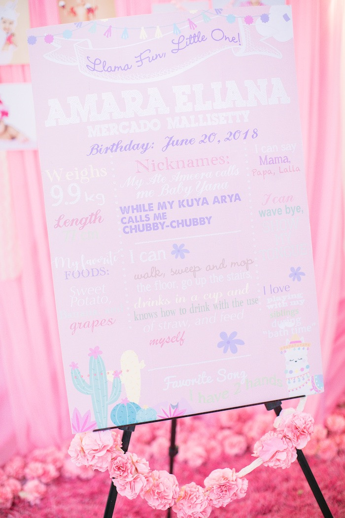 Highlight Board from a Pastel Llama Birthday Fiesta on Kara's Party Ideas | KarasPartyIdeas.com (8)
