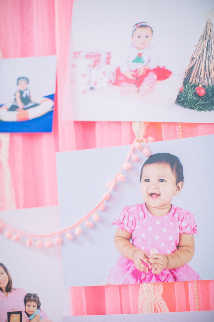 Photo board with pink bunting from a Pastel Llama Birthday Fiesta on Kara's Party Ideas | KarasPartyIdeas.com (7)