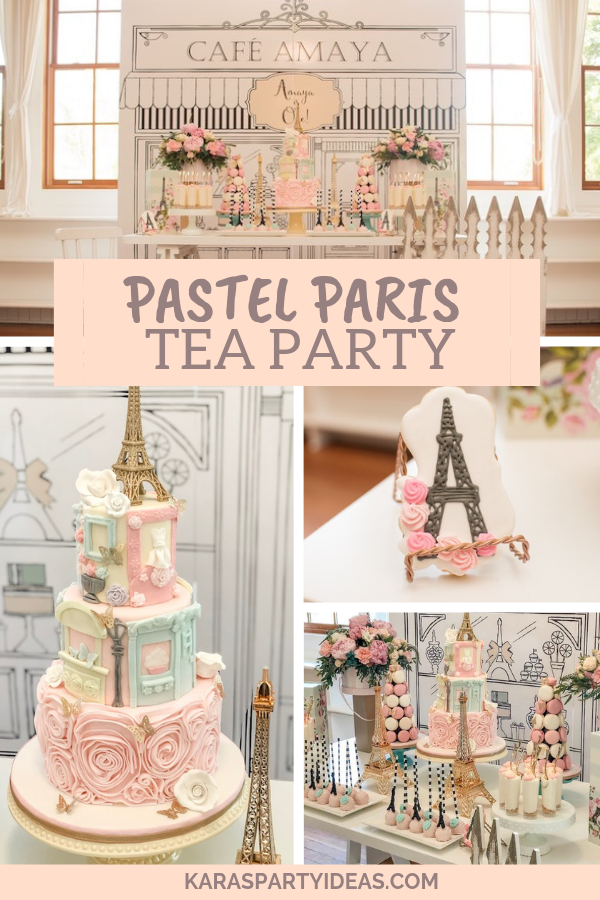 Pastel Paris Tea Party via Kara's Party Ideas - KarasPartyIdeas.com