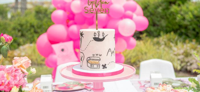 Pink Pirate Birthday Party on Kara's Party Ideas | KarasPartyIdeas.com (1)