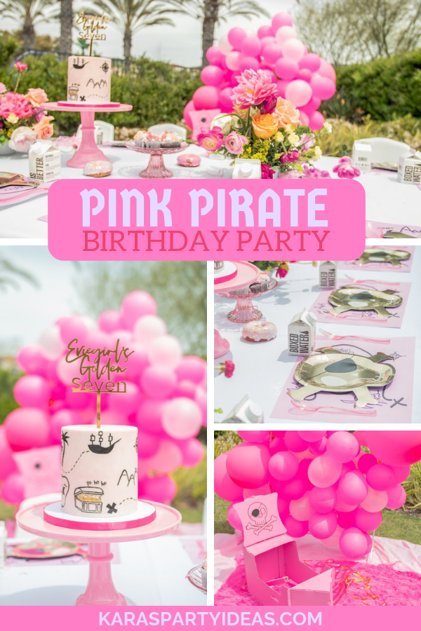 Pink Pirate Birthday Party via Kara's Party Ideas - KarasPartyIdeas.com