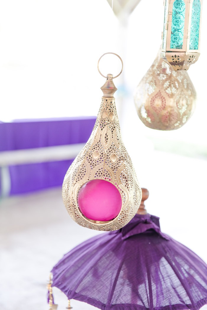 Hanging Arabian Lantern from a Shimmer & Shine Inspired Arabian Birthday Party on Kara's Party Ideas | KarasPartyIdeas.com (28)