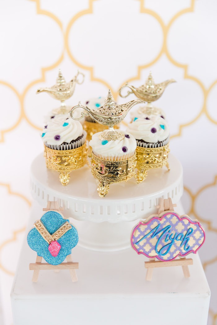 Arabian Lamp Cupcakes + Cookies from a Shimmer & Shine Inspired Arabian Birthday Party on Kara's Party Ideas | KarasPartyIdeas.com (23)