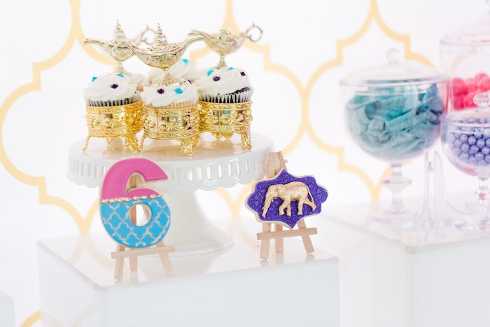 Arabian Cookies + Cupcakes from a Shimmer & Shine Inspired Arabian Birthday Party on Kara's Party Ideas | KarasPartyIdeas.com (21)