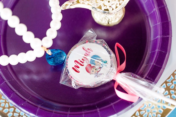 Genie Lollipop from a Shimmer & Shine Inspired Arabian Birthday Party on Kara's Party Ideas | KarasPartyIdeas.com (39)