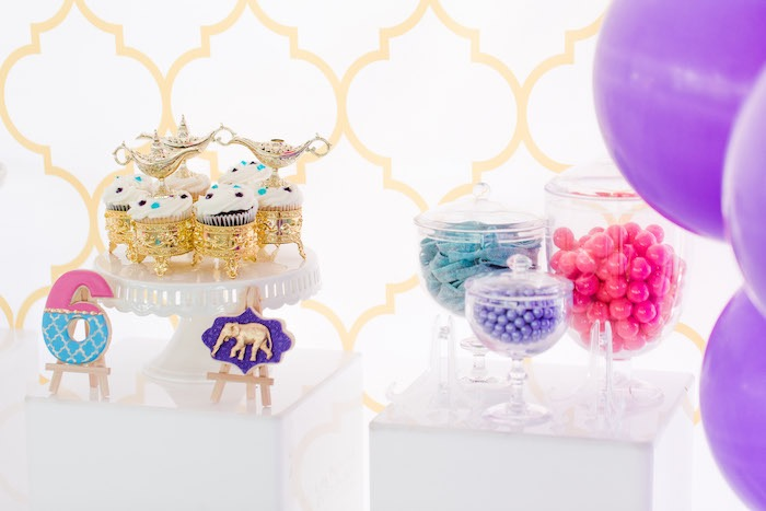 Dessert Pedestals from a Shimmer & Shine Inspired Arabian Birthday Party on Kara's Party Ideas | KarasPartyIdeas.com (20)