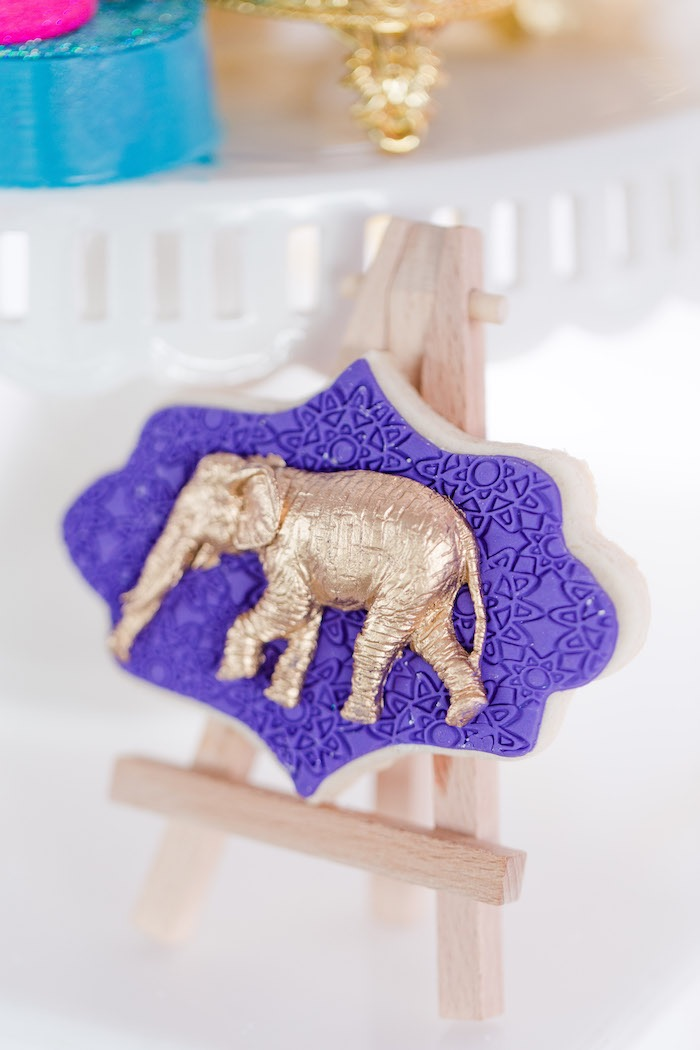 Arabian Elephant Cookie from a Shimmer & Shine Inspired Arabian Birthday Party on Kara's Party Ideas | KarasPartyIdeas.com (11)