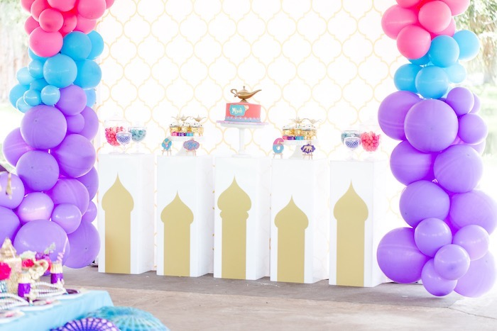 Arabian Themed Dessert Spread from a Shimmer & Shine Inspired Arabian Birthday Party on Kara's Party Ideas | KarasPartyIdeas.com (8)