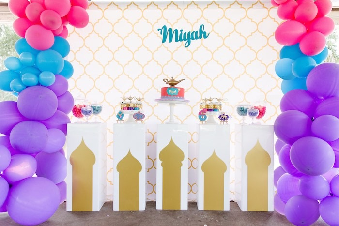 Arabian Themed Dessert Spread from a Shimmer & Shine Inspired Arabian Birthday Party on Kara's Party Ideas | KarasPartyIdeas.com (7)