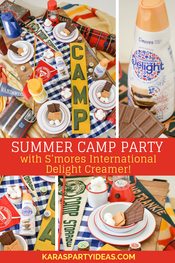 Summer Camp Party with S'mores International Delight Creamer! via Kara's Party Ideas - KarasPartyIdeas.com