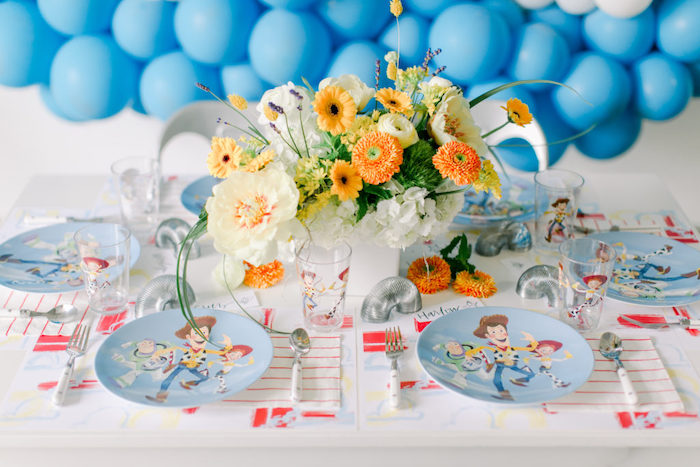 Toy Story Themed Guest Table from a Toy Story Party on Kara's Party Ideas | KarasPartyIdeas.com (24)