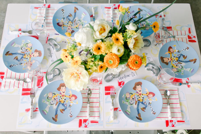 Modern Toy Story Party Table + Place Settings from a Toy Story Party on Kara's Party Ideas | KarasPartyIdeas.com (22)