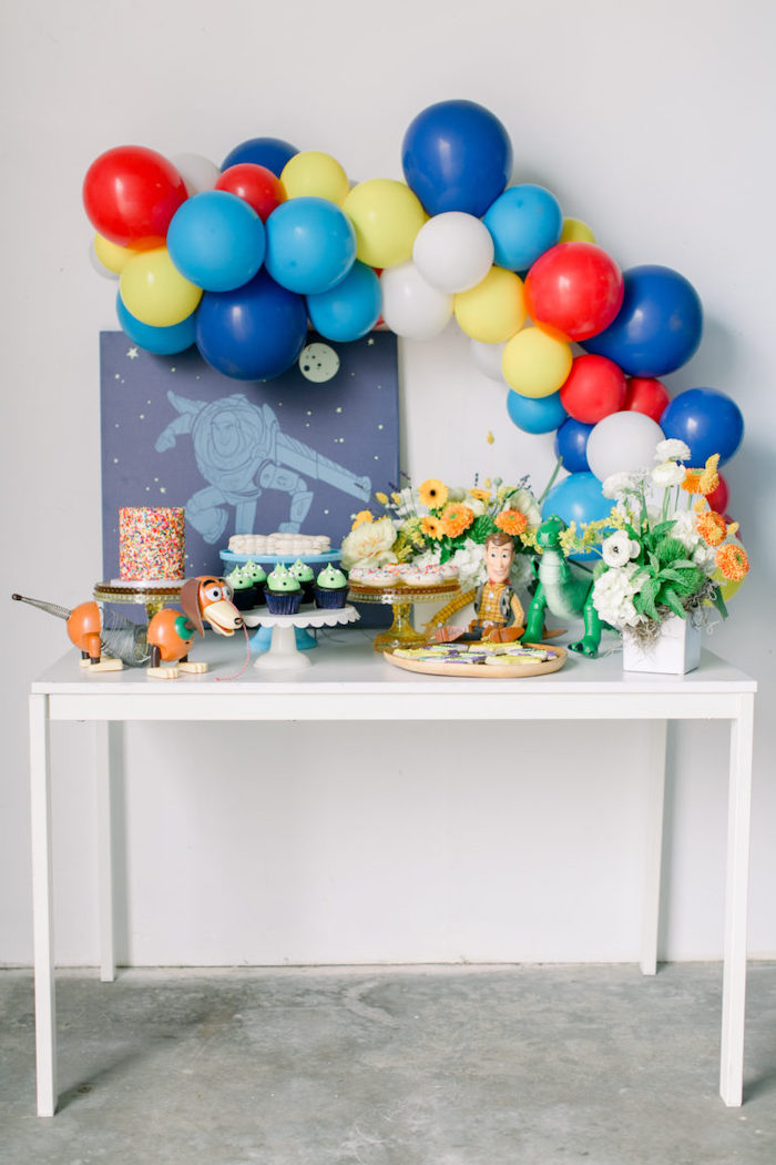Toy Story Themed Dessert Table from a Toy Story Party on Kara's Party Ideas | KarasPartyIdeas.com (19)