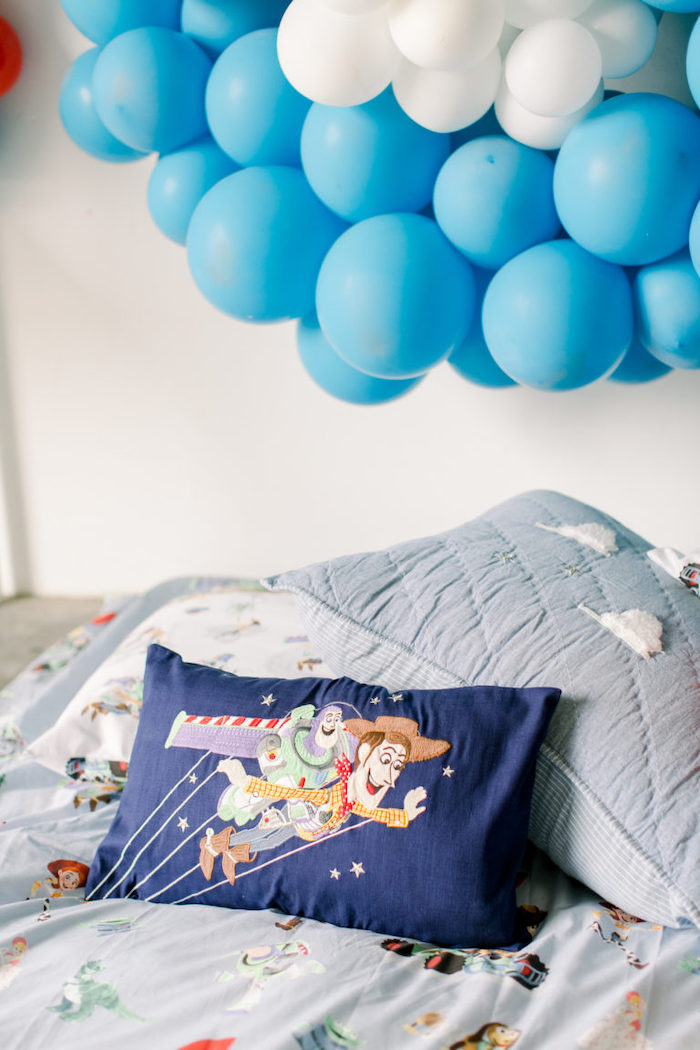 Woody and Buzz Pillow from a Toy Story Party on Kara's Party Ideas | KarasPartyIdeas.com (11)