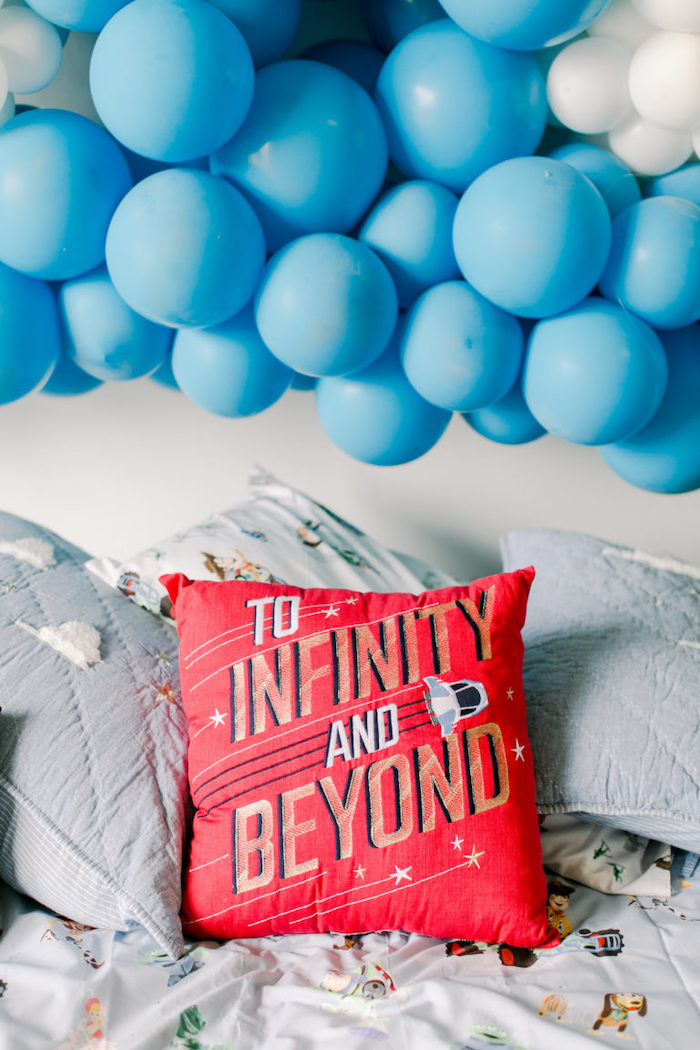 To Infinity & Beyond Pillow from a Toy Story Party on Kara's Party Ideas | KarasPartyIdeas.com (10)