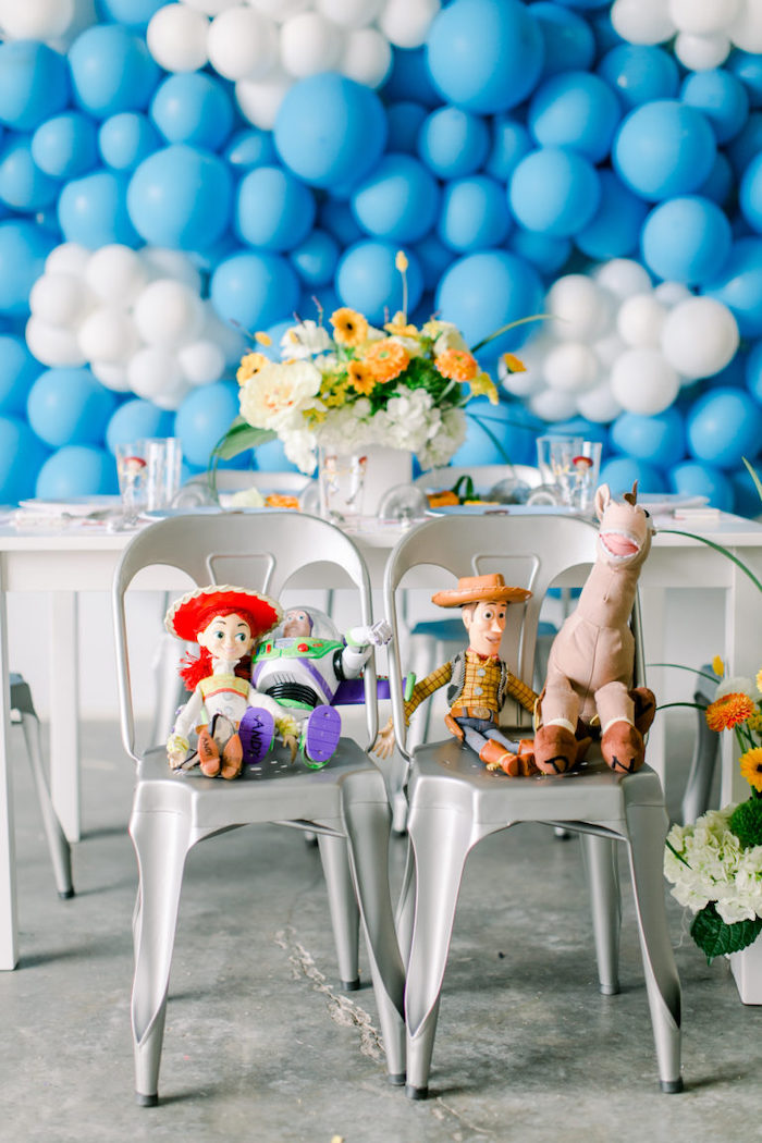 Toy Story Party Table with Seated Plush Characters from a Toy Story Party on Kara's Party Ideas | KarasPartyIdeas.com (32)