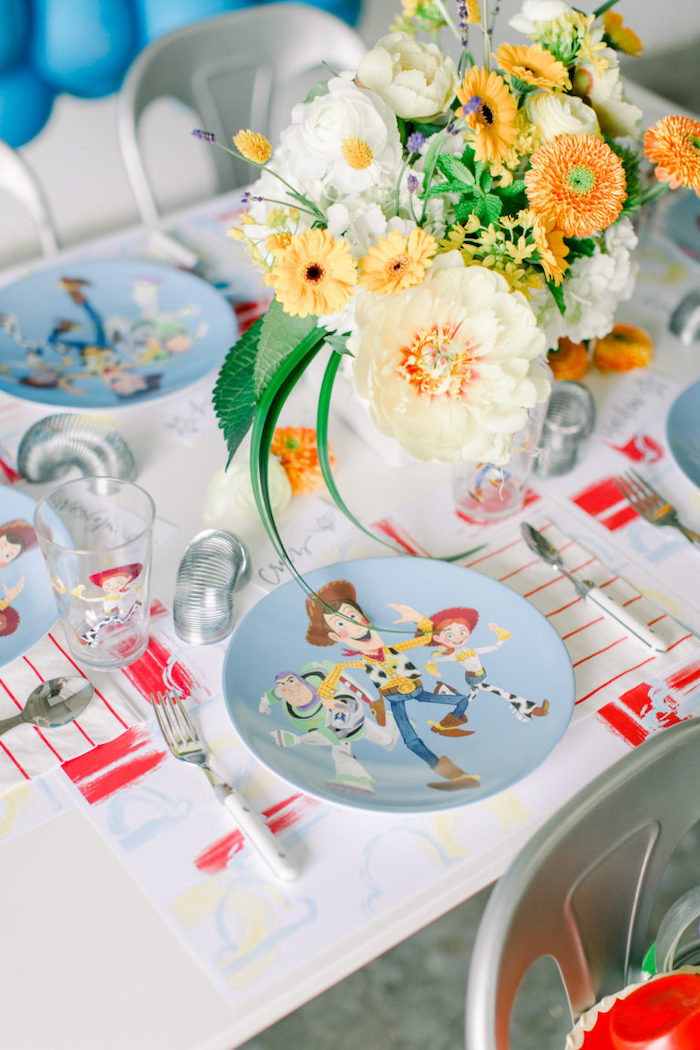 Toy Story Table Setting from a Toy Story Party on Kara's Party Ideas | KarasPartyIdeas.com (30)