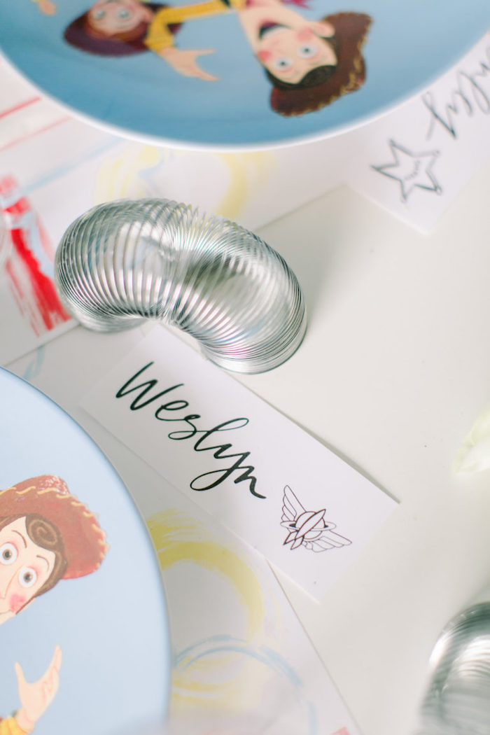Star Command-labeled Slinky Place Card from a Toy Story Party on Kara's Party Ideas | KarasPartyIdeas.com (28)
